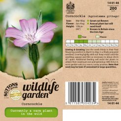Wildlife Garden Seeds - Corncockle by Suttons Seeds| 140144| Nationwide Delivery On Flower Seeds
