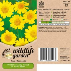 Wildlife Garden Seeds - Corn Marigold by Suttons Seeds| 140147| Nationwide Delivery On Flower Seeds