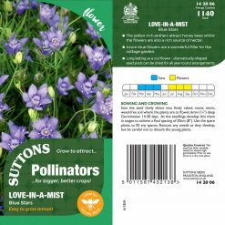 Love-In-A-Mist Seeds - Blue Stars by Suttons Seeds  142006  Nationwide Delivery On Flower Seeds