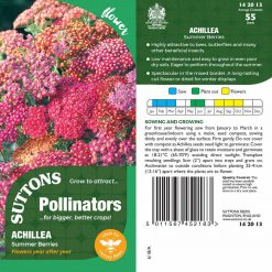 Achillea Pollinator Seeds - Summer Berries by Suttons Seeds| 142013| Nationwide Delivery On Flower Seeds