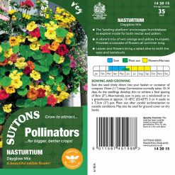 Nasturtium Seeds - Dayglow Mix by Suttons Seeds| 142015| Nationwide Delivery On Flower Seeds