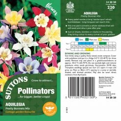Aquilegia Seeds - Pretty Bonnets Mix by Suttons Seeds| 142020| Nationwide Delivery On Flower Seeds