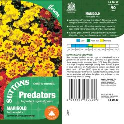 Seeds For Predators - Marigold Fantasia Mix by Suttons Seeds| 142037| Nationwide Delivery On Flower Seeds