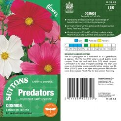 Cosmea Seeds - Sensation Tall Mix by Suttons Seeds| 142042| Nationwide Delivery On Flower Seeds