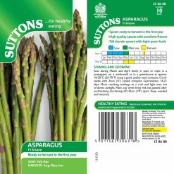 Asparagus F1 Ariane by Suttons Seeds  150600  Nationwide Delivery