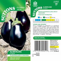 Aubergine - Galine by Suttons Seeds| 150907| Nationwide Delivery