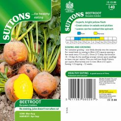 Beetroot Burpees Golden by Suttons Seeds| 151500| Nationwide Delivery