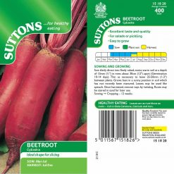Beet Cylindra by Suttons Seeds| 151820| Nationwide Delivery