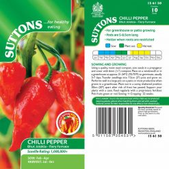 Chilli Pepper Bhut Jolokia Fiery Furnace by Suttons Seeds| 156150| Nationwide Delivery