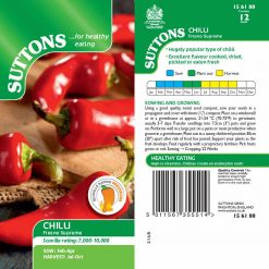 Chilli Pepper Fresno Supreme by Suttons Seeds| 156180| Nationwide Delivery