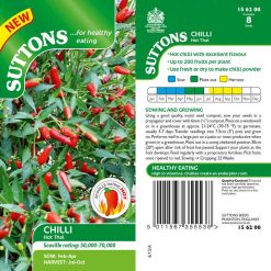 Chilli Pepper Hot Thai by Suttons Seeds| 156200| Nationwide Delivery
