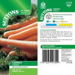 Carrot F1 Maestro by Suttons Seeds| 157300| Nationwide Delivery