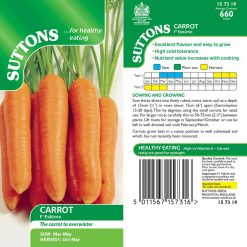 Carrot Eskimo F1 by Suttons Seeds| 157319| Nationwide Delivery