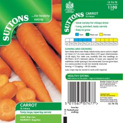 Carrot St.Valery by Suttons Seeds  157475  Nationwide Delivery