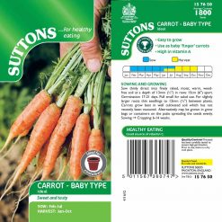 Carrot Ideal Red by Suttons Seeds| 157650| Nationwide Delivery