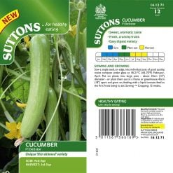 Cucumber F1 Delistar by Suttons Seeds| 161271| Nationwide Delivery