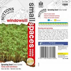 Cress Curled by Suttons Seeds| 161450| Nationwide Delivery