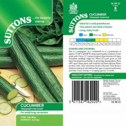 Cucumber Telegraph Improved by Suttons Seeds| 162021| Nationwide Delivery
