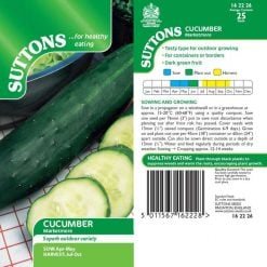 Cucumber Marketmore by Suttons Seeds| 162226| Nationwide Delivery