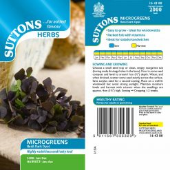 Microgreens Basil Dark Opal by Suttons Seeds| 164380| Nationwide Delivery