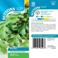 Herb Rocket by Suttons Seeds| 165265| Nationwide Delivery