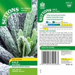 Kale Black Magic by Suttons Seeds  166113  Nationwide Delivery