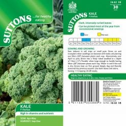 Kale Reflex F1 by Suttons Seeds  166118  Nationwide Delivery