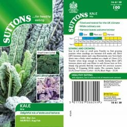 Kale Mix by Suttons Seeds  166120  Nationwide Delivery