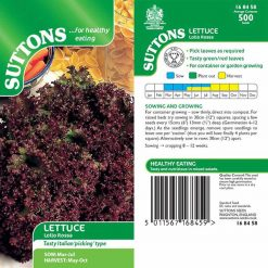 Lettuce Lollo Rossa by Suttons Seeds| 168458| Nationwide Delivery