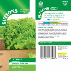 Lettuce Lollo Bionda by Suttons Seeds  168459  Nationwide Delivery