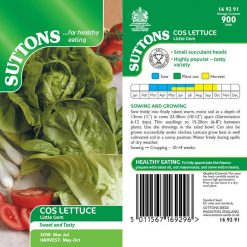 Lettuce Cos Little Gem by Suttons Seeds| 169291| Nationwide Delivery