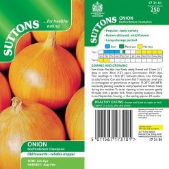 Onion Bedfordshire Champion by Suttons Seeds| 173101| Nationwide Delivery