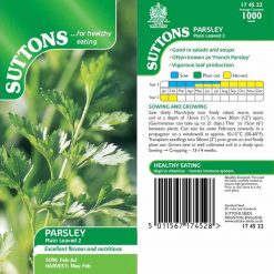 Parsley Plain Leaved 2 by Suttons Seeds| 174522| Nationwide Delivery