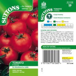 Tomato F1 Shirley by Suttons Seeds| 181384| Nationwide Delivery