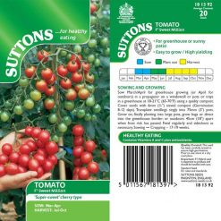 Tomato F1 Sweet Million by Suttons Seeds| 181392| Nationwide Delivery