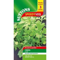 Speedy Veg Cress Greek by Suttons Seeds| 184475| Nationwide Delivery