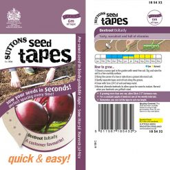 Seed Tape - Beetroot Boltardy by Suttons Seeds| 185432| Nationwide Delivery