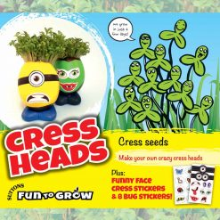 Fun to Grow - Curled Cress - Cress Heads by Suttons Seeds| 186501| Nationwide Delivery