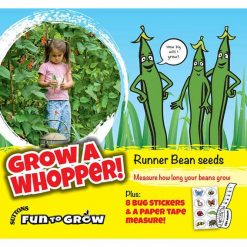 Fun to Grow - Runner Bean Grow A Whopper by Suttons Seeds  186504  Nationwide Delivery