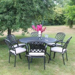 Cooley 6 Seater Cast Aluminium-CADRBZ374| McD's Garden Centre | Nationwide Delivery
