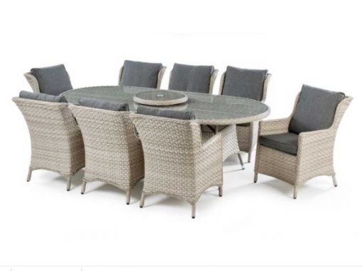 Hampton 8 Seater Oval Rattan set-HAMP8S| McD's Garden Centre | Nationwide Delivery