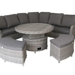 Hampton Circular Lounge/Dinning Set-HAMPCORNR| McD's Garden Centre | Nationwide Delivery
