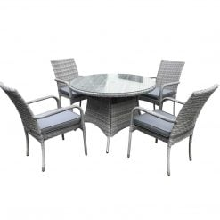 Tuscany4 Seat Dining Set | Outdoor Rattan Weave | McD's