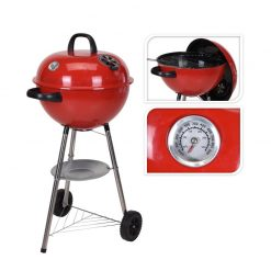 Kettle Charcoal BBQ 47cm Grill In Red C80215990 | McD's Garden Centre | Nationwide Delivery