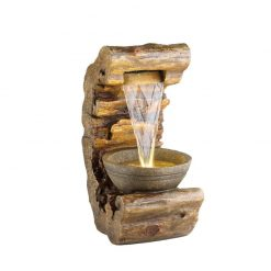 Cliff Waterfall Water Fountain With Warm White LED Light | McD's Garden Centre | Water Features