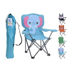 Folding Kids Canvas Camping Chair Elephant Design | FC5000050 | 8719987246401