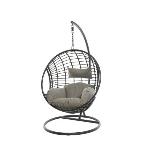 London Hanging Egg Chair Black- 9842384- 842384| McD's Garden Centre | Nationwide Delivery On Egg Chairs