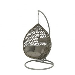 Montreal Hanging Egg Chair-Grey- 9841451- 102361| McD's Garden Centre | Nationwide Delivery On Egg Chairs