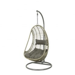 Riga Wicker Hanging Egg Chair Grey- 9841445- 841455| McD's Garden Centre | Nationwide Delivery On Egg Chairs