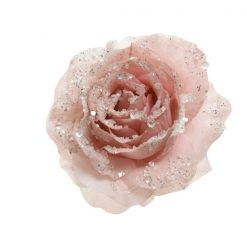 Rose With Clip - Sequin Baby Pink | 629993